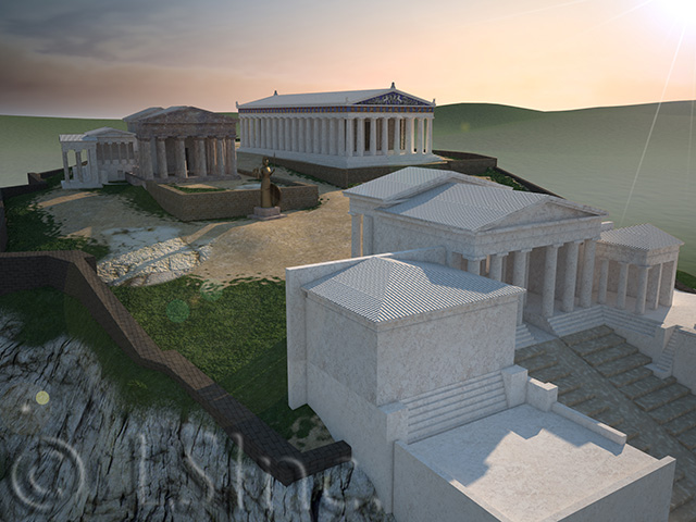 Acropolis massing model