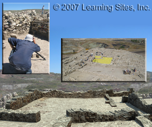 Digital Site Seer at work at Seyitomer, Turkey